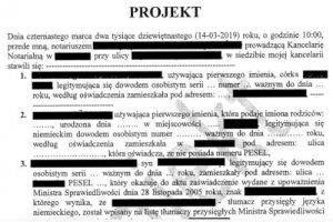 Notartermin in Polen - Kaufvertrag über Grundstück