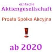 . Prosta Spółka Akcyjna, PSA - einfache Aktiengesellschaft in Polen